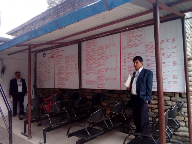 सरकारी कार्यालयहरुको अनुगमन गर्ने क्रममा नागरीक वडापत्र समेत